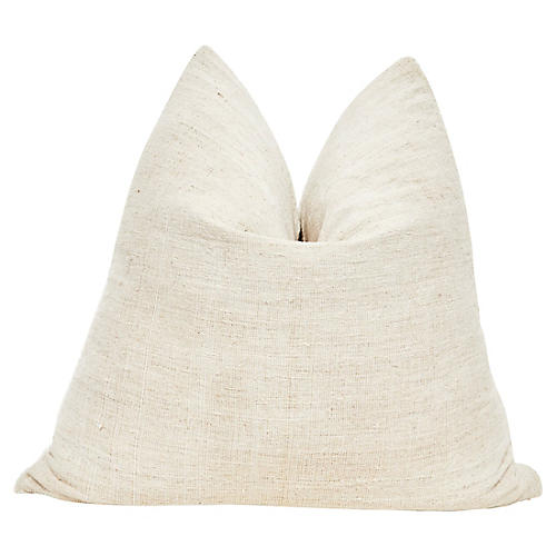 French Natural Hand-Spun Linen Pillow