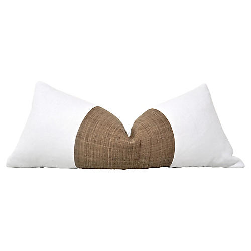 Tribal Tobacco Hemp & Linen Body Pillow