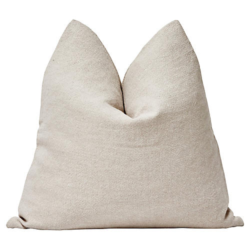 "Flax European Linen Pillow, 24""x24"""