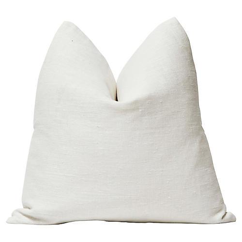 """White European Linen Pillow, 24""""x24"""""""
