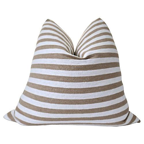 Anatolian Toffee Striped Pillow