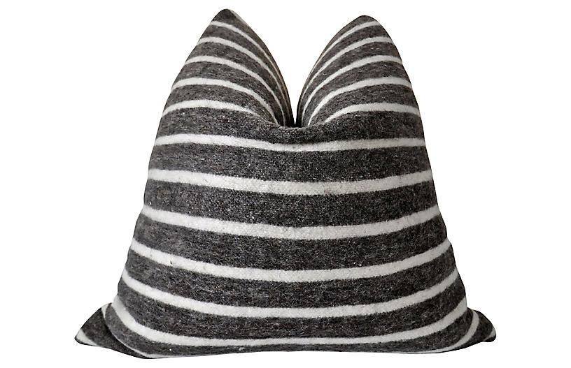Bark & Natural Wool Pillow