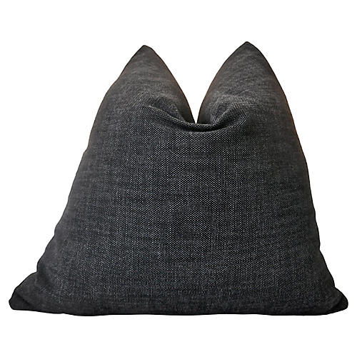 Textured Charcoal Outdoor Pillow