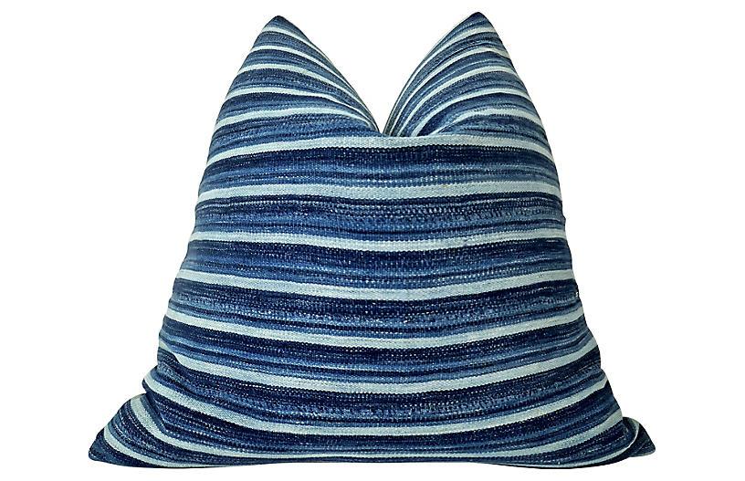 African Tribal Indigo Blues Pillow