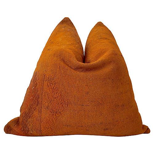 Berber Handwoven Kilim Hemp/Wool Pillow