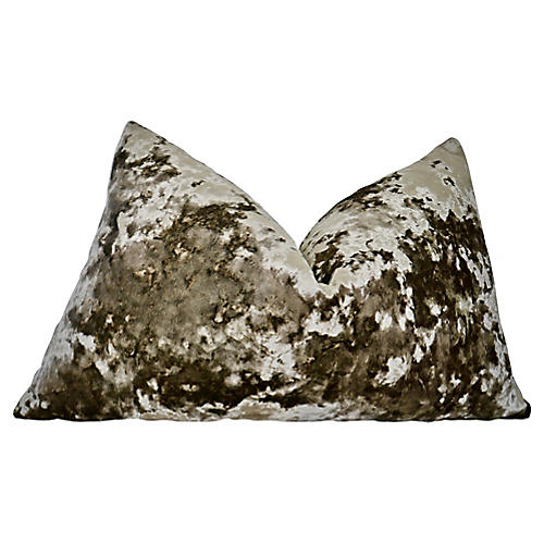 Belgian Sculpted Champagne Velvet Pillow