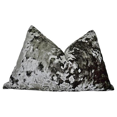 Belgian Sculpted Platinum Velvet Pillow