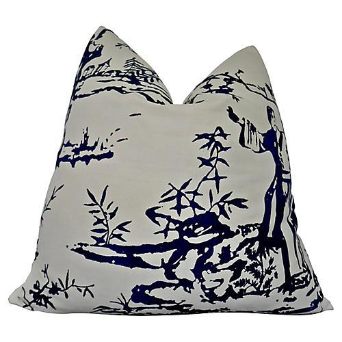 Scalamandre Porcelain Chinoiserie Pillow
