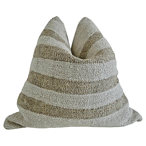 Striped Berber Kilim Pillow