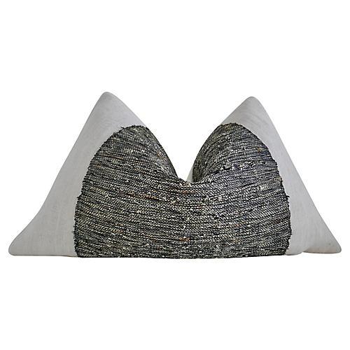 Vintage Hemp Linen & Sisal Pillow