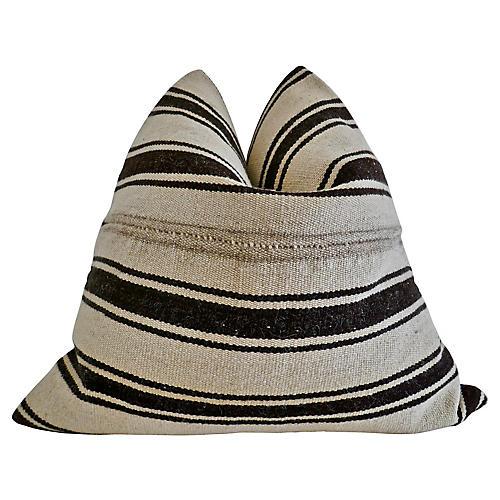 Berber Tribe Kilim Wool Rug Pillow, XL