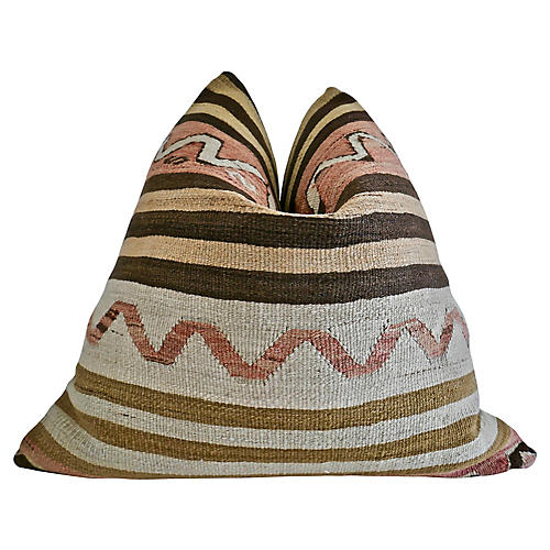 Luxe Berber Tribe Kilim Wool Rug Pillow