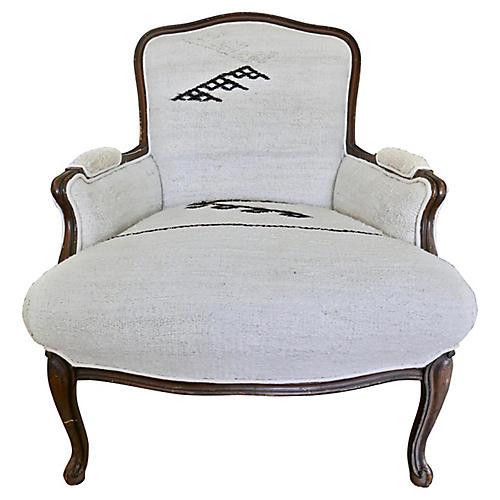 Berber Handwoven Natural Bergere Chair