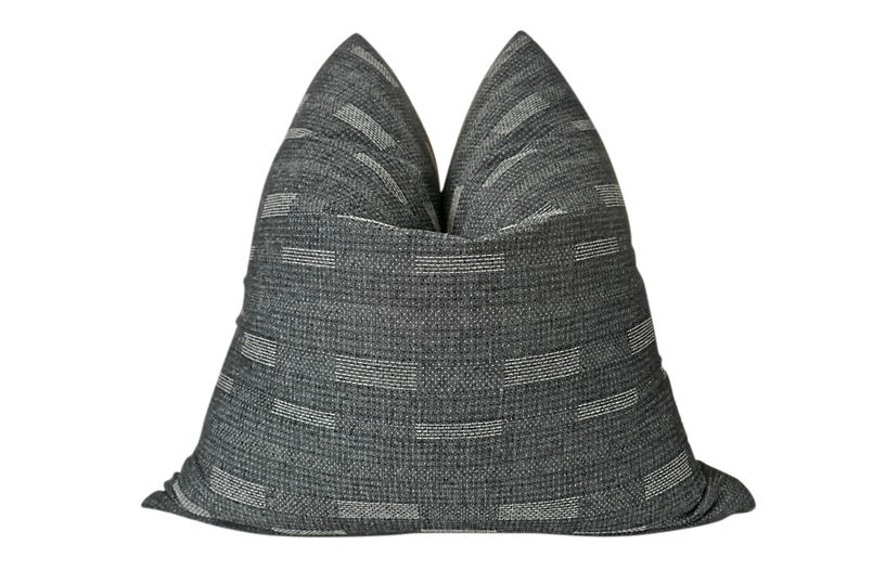 Organic Washed Charcoal Cotton Pillow