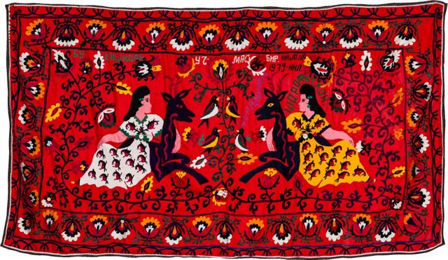 Figurative Suzani Textile