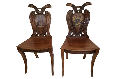 Habsburg Double Eagle Side Chairs, Pair