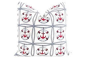 Anchors Away Pillow Cover*