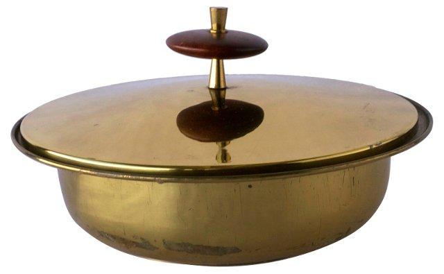 Lidded Brass Bowl