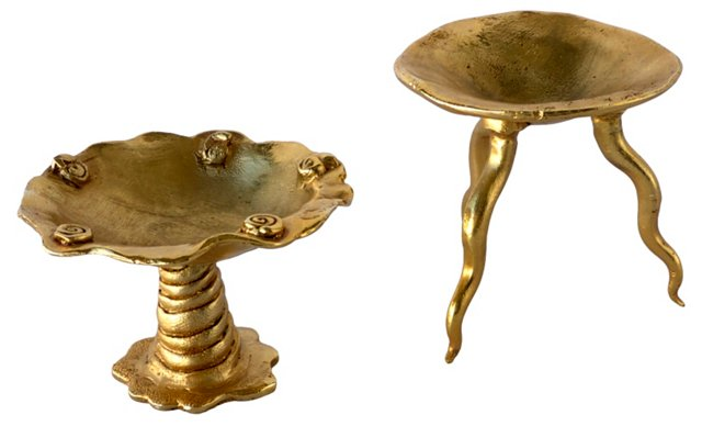 Gold-Plated Vessels, Pair