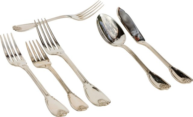Christofle Sterling Flatware, Svc. for 6