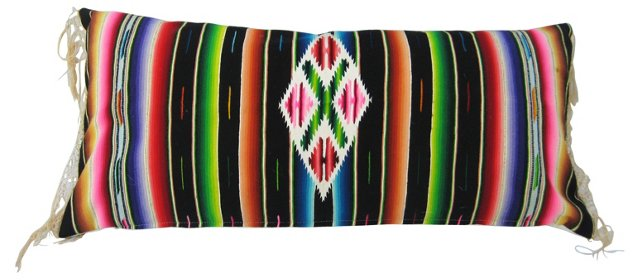 Serape Pillow with Fringe