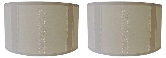 Pierced Paper Shades, Pair