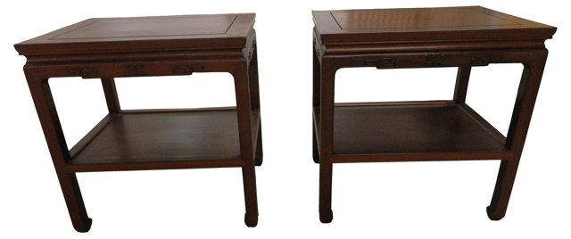 Side Tables by George Zee, Pair
