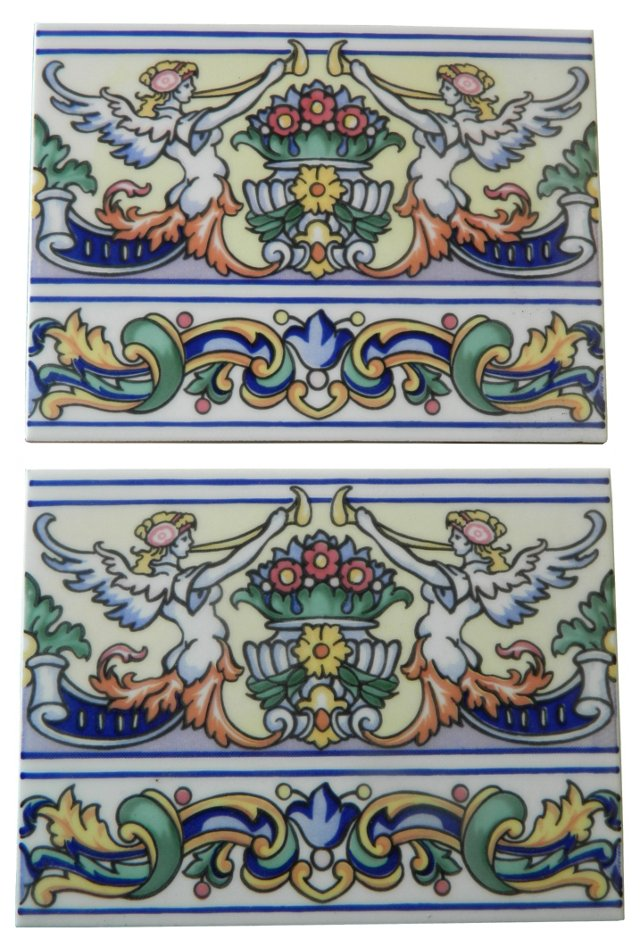 Méditerranée Angel Tiles, Pair