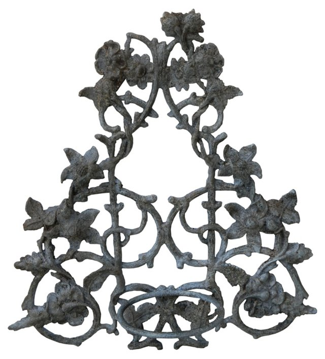 Antique Wrought Iron Wall Planter