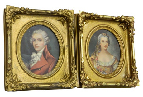 Ornate French Gold Frames, S/2