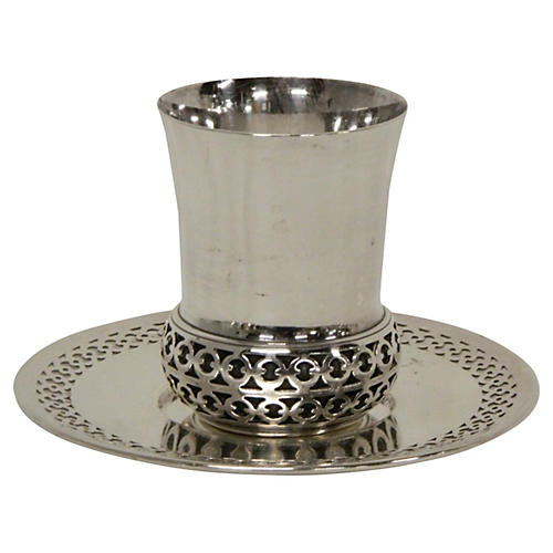 French Siver Timbale & Underplate