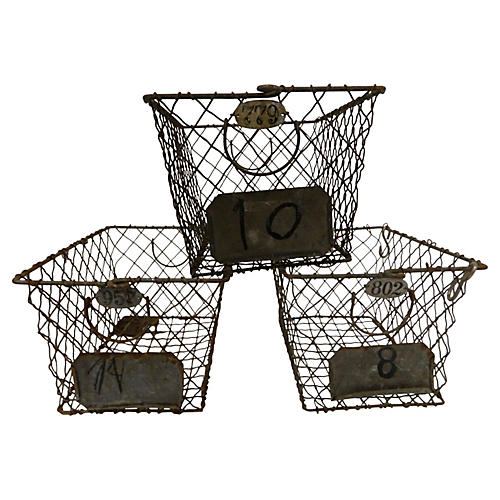 Wire Woven Baskets, S/3