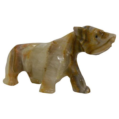Carved Polished Onyx Bear