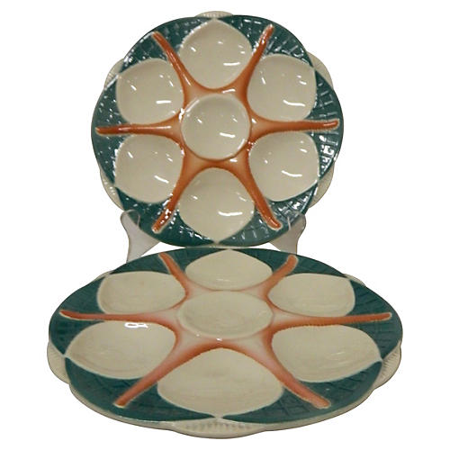 French Starfish Oyster Plates S/2