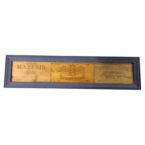 French Framed Grande Marques Wine Panels