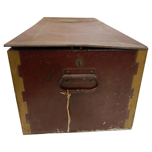 Large Rustic Safety Deposit Box