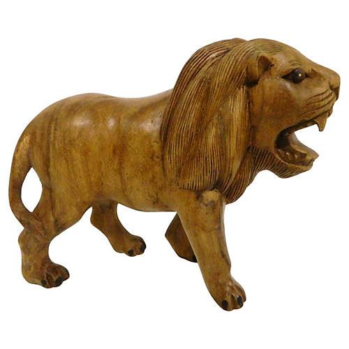 Carved Wood Lion