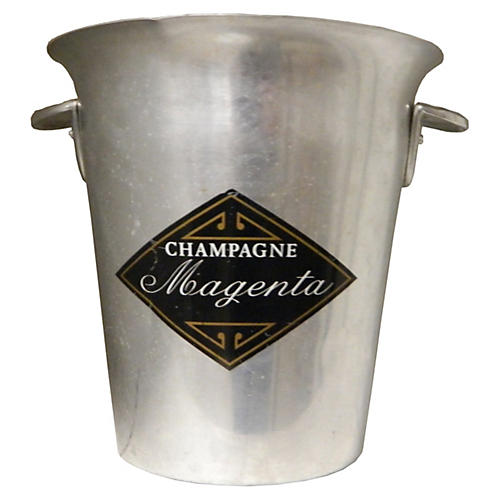 Vintage French Magenta Champagne Bucket