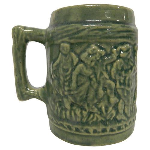 Majolica Glazed Mug
