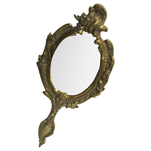 French Acanthus Hand Mirror
