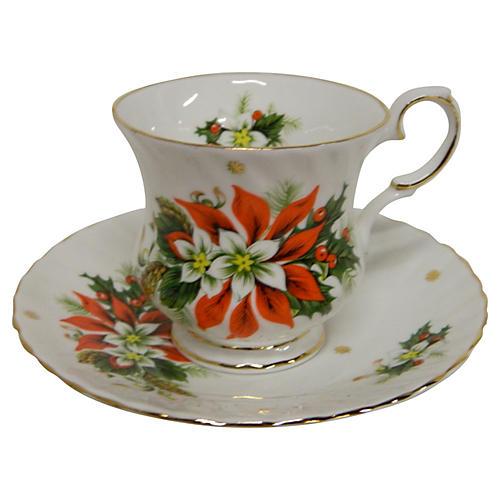 """English Royalty Teacup, """"Noel"""""""