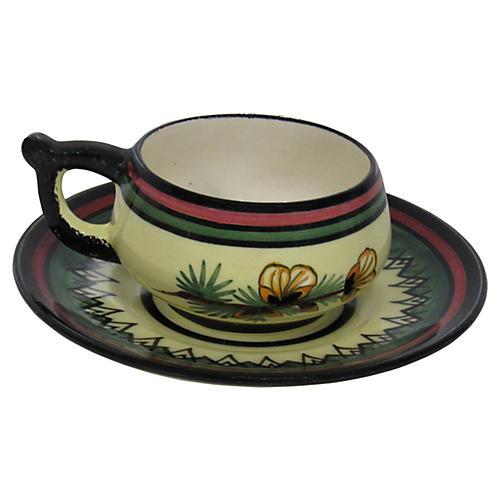 Henriot Quimper Teacup & Saucer