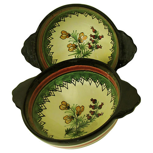 Henriot Quimper Bowls, Pair