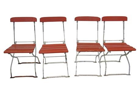 German Folding Chairs, S/4