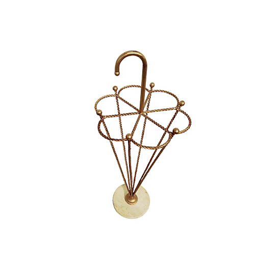 Italian Gold Rope Umbrella Stand