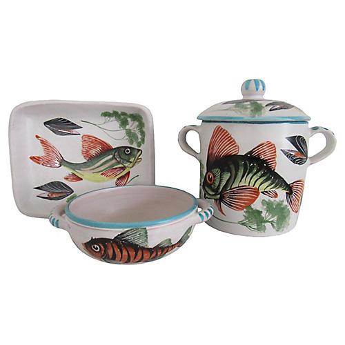French Shellfish & Soup Set, 3-Pcs