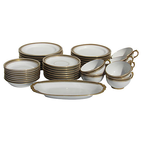 Antique Limoges Dessert Set, 41 Pcs