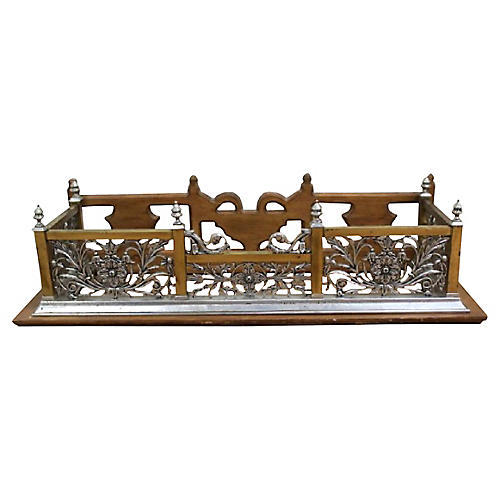 Architectural Fireplace Fender Bench