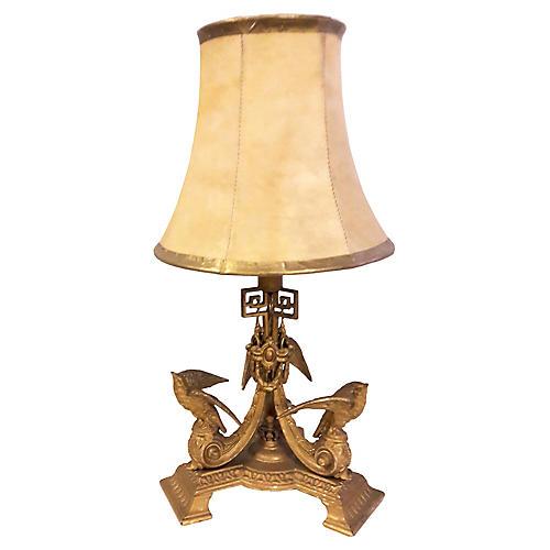 French Napoleon Bronze Table Lamp