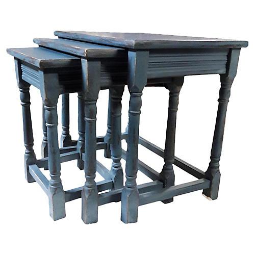 English Tavern Nesting Tables S/3